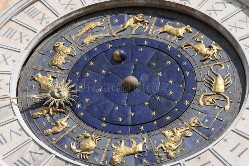 horloge astronomique Italie Venise photos stock