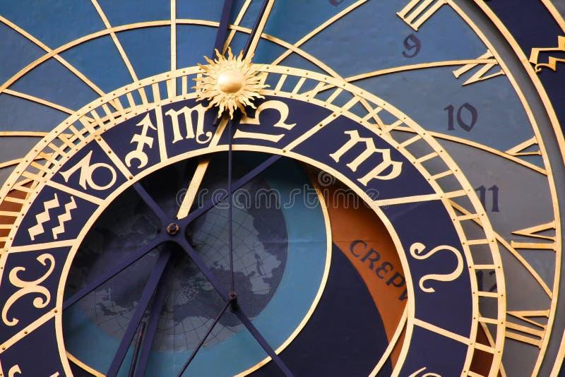 Horloge astronomique médiévale photographie stock