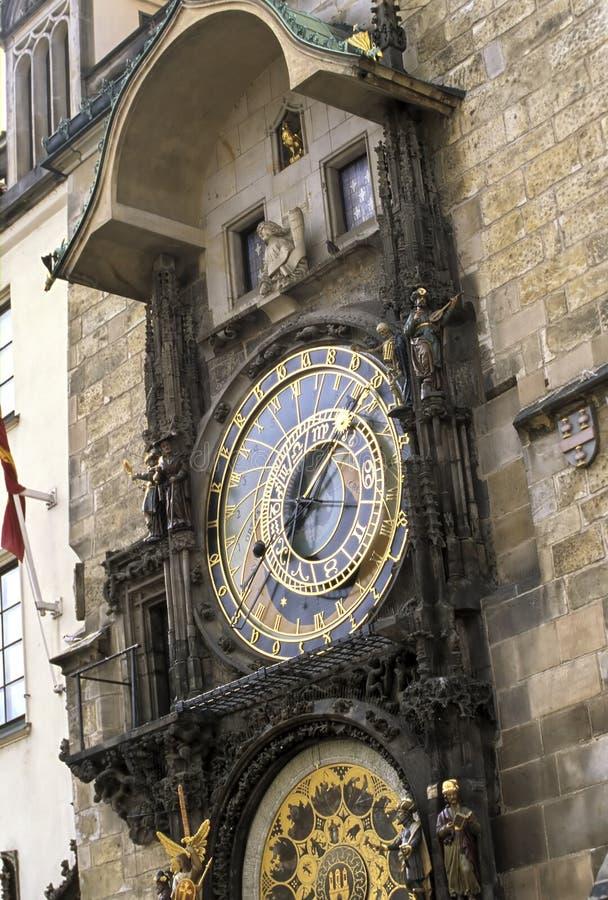horloge astronomique Prague photos libres de droits