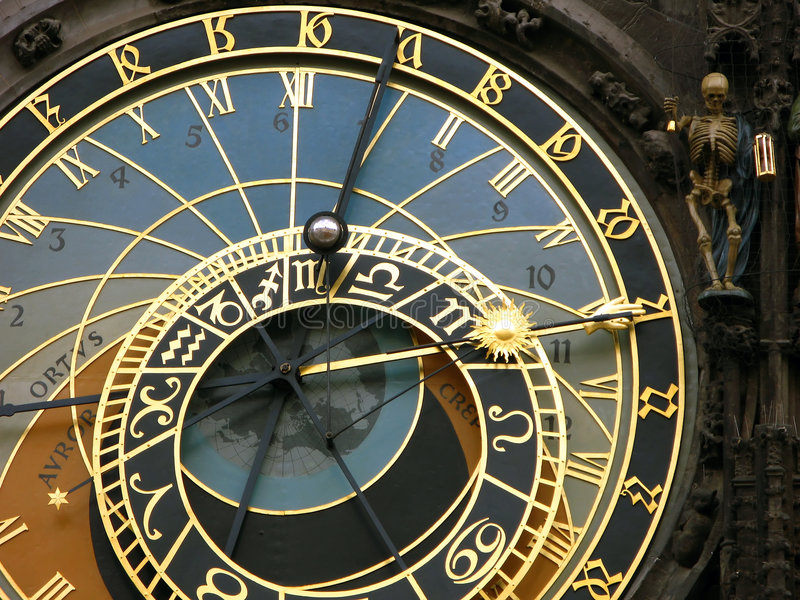 Horloge astronomique, Prague photo stock