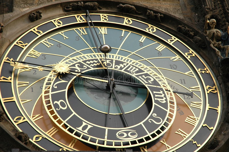 Horloge astronomique Prague photo stock