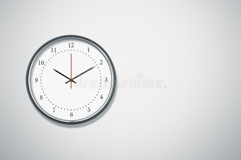 Horloge au mur illustration de vecteur