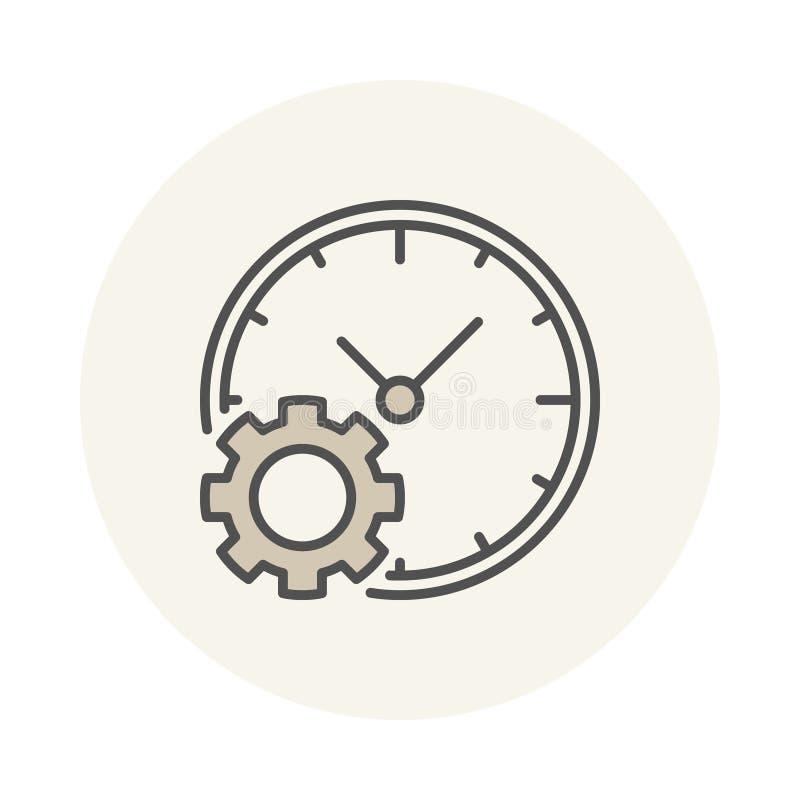 Horloge avec l'icône de vitesse illustration de vecteur