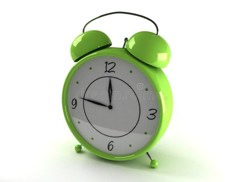 Horloge avec le réveil illustration de vecteur