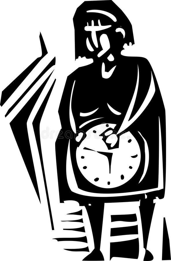 Horloge biologique illustration stock