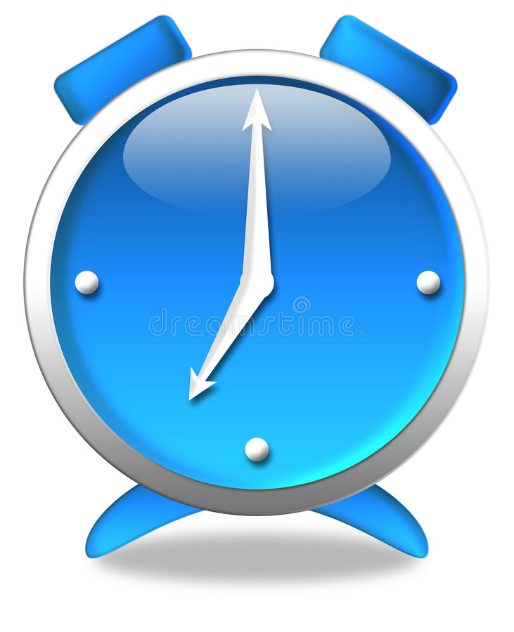 Horloge bleue illustration stock