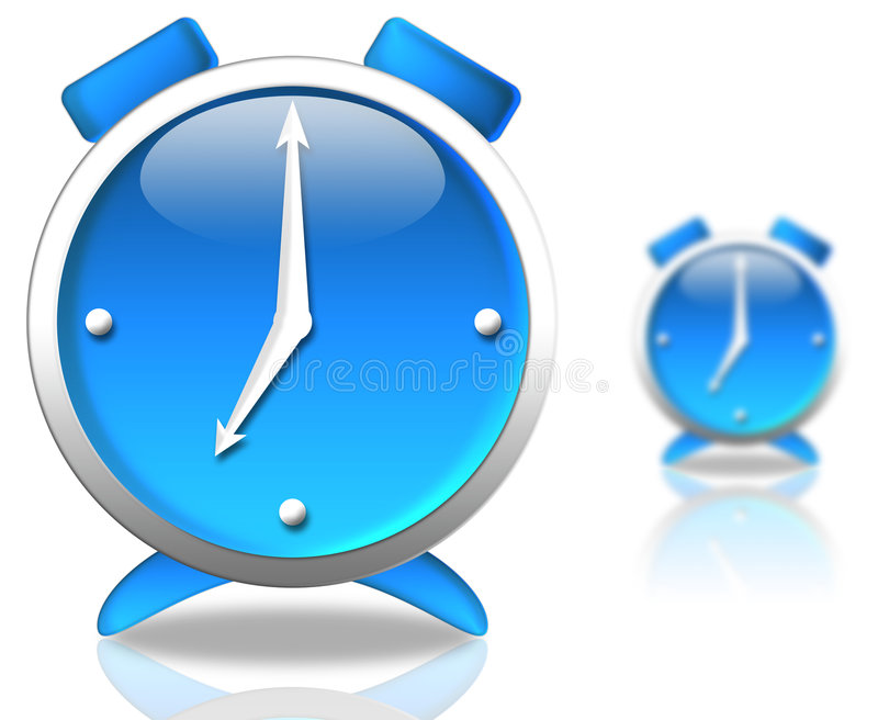 Horloge bleue illustration libre de droits