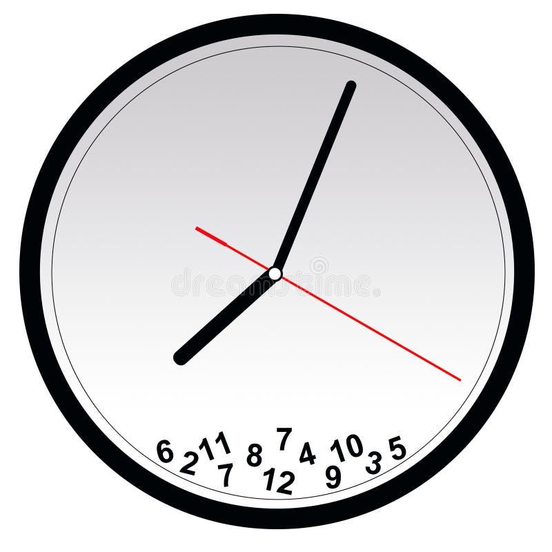 Horloge cassée illustration libre de droits