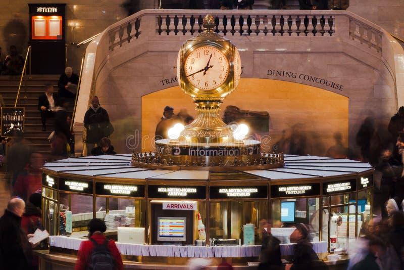 Horloge centrale grande New York City de gare photographie stock libre de droits