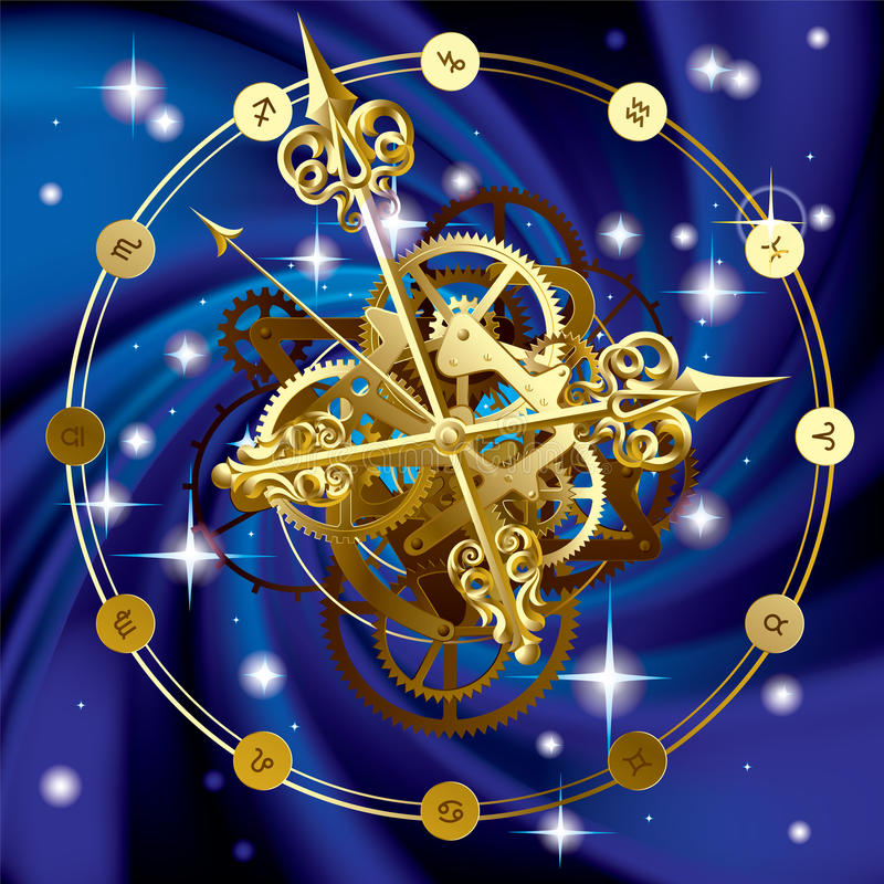 Horloge d'étoile illustration libre de droits
