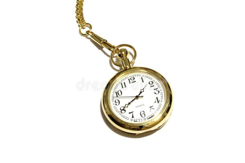 Horloge d'or images stock
