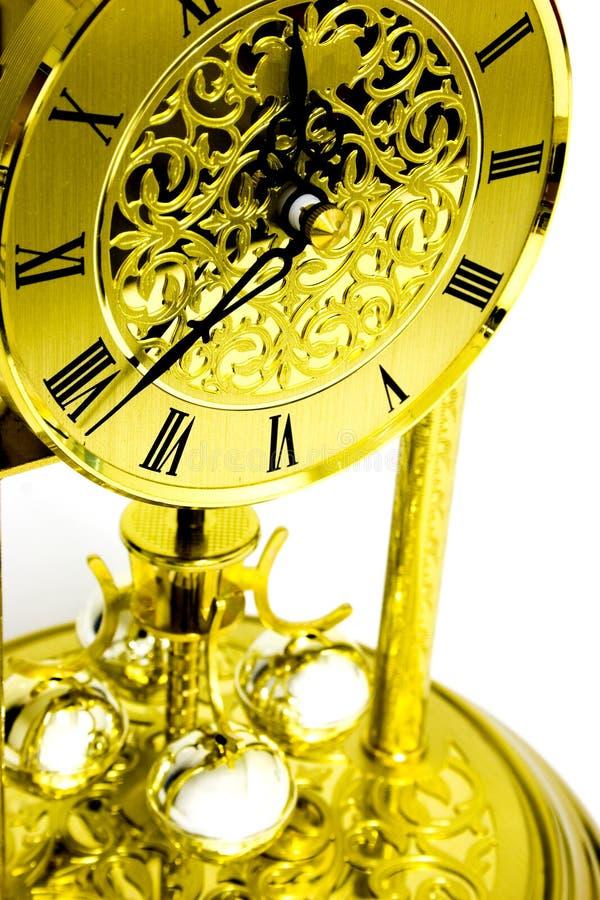 Horloge d'or image stock