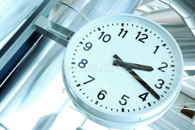 Horloge d'aéroport photo stock
