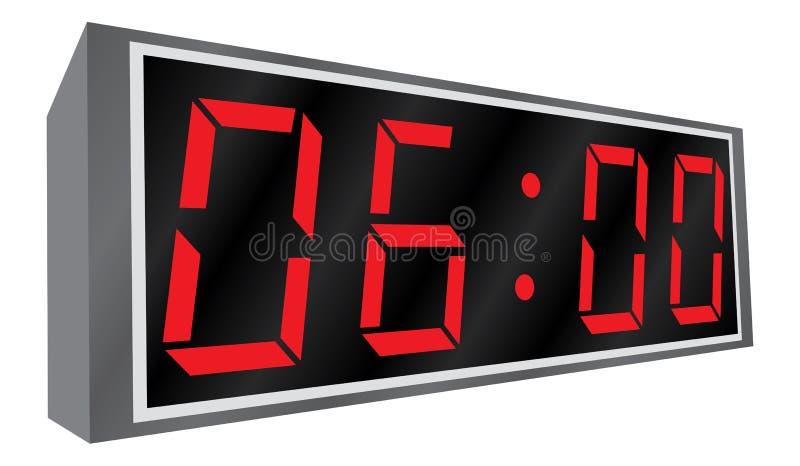 Horloge d'alarme électronique. illustration libre de droits