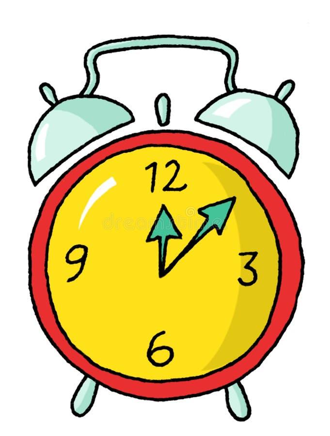 Horloge d'alarme 01 illustration libre de droits