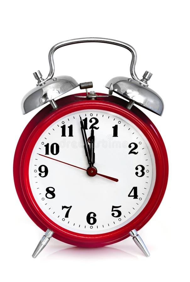 Horloge d'alarme photographie stock libre de droits