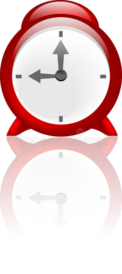 Horloge d'alarme illustration stock