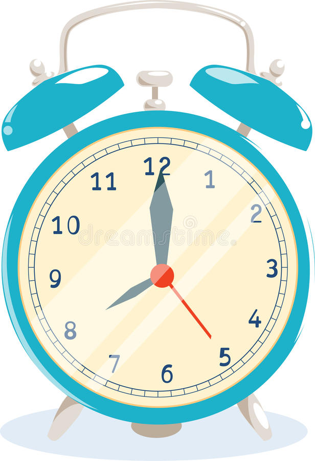 horloge d'alarme illustration de vecteur