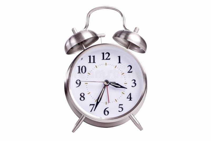 Horloge d'alarme analogique image libre de droits