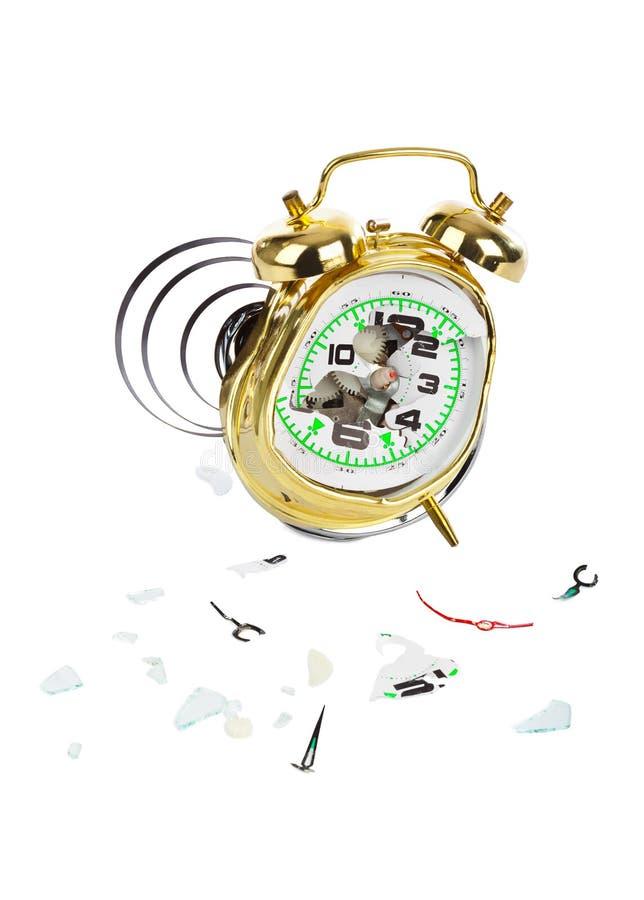 Horloge d'alarme cassée photos stock