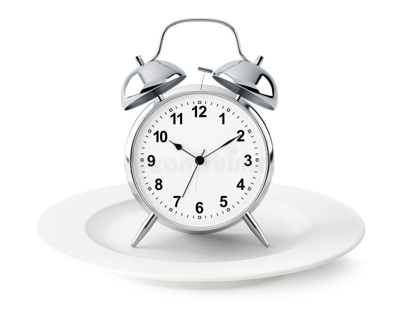 Horloge d'alarme de la plaque d'isolement illustration de vecteur