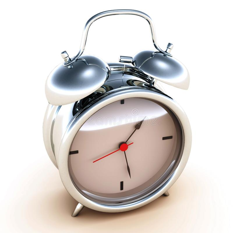 Horloge d'alarme de temps illustration de vecteur
