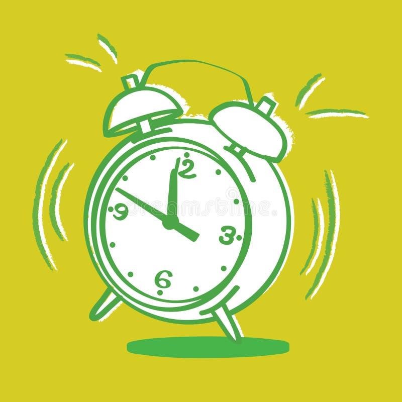 Horloge d'alarme ennuyante illustration stock