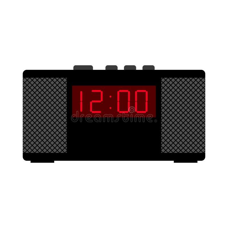 Horloge d'alarme noire illustration de vecteur