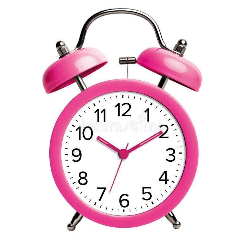 Horloge d'alarme rose photos libres de droits