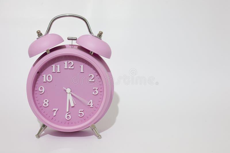 Horloge d'alarme rose photo libre de droits
