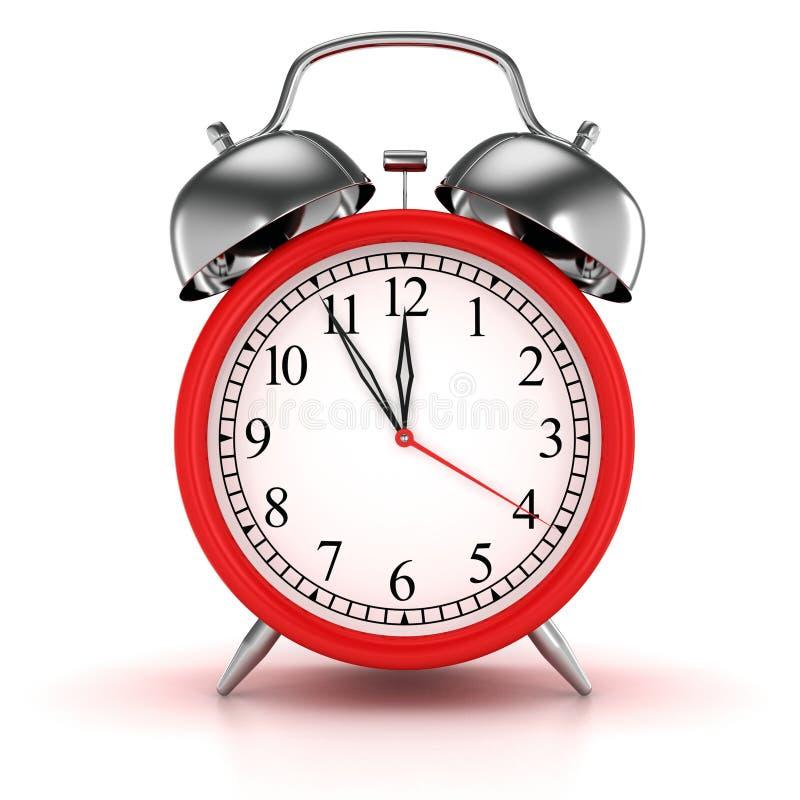 Horloge d'alarme rouge illustration libre de droits
