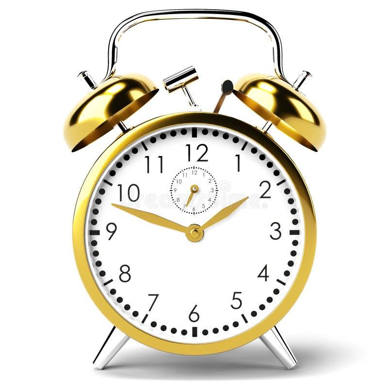 Horloge d'alarme sur le fond blanc photographie stock