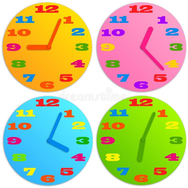 Horloge d'enfant illustration de vecteur