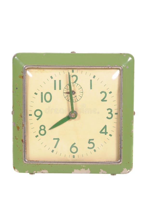 Horloge d'isolement de bureau de vintage photographie stock libre de droits