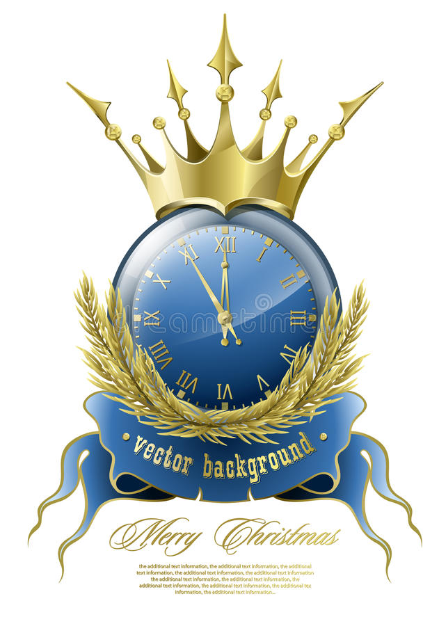 Horloge d'an neuf illustration stock