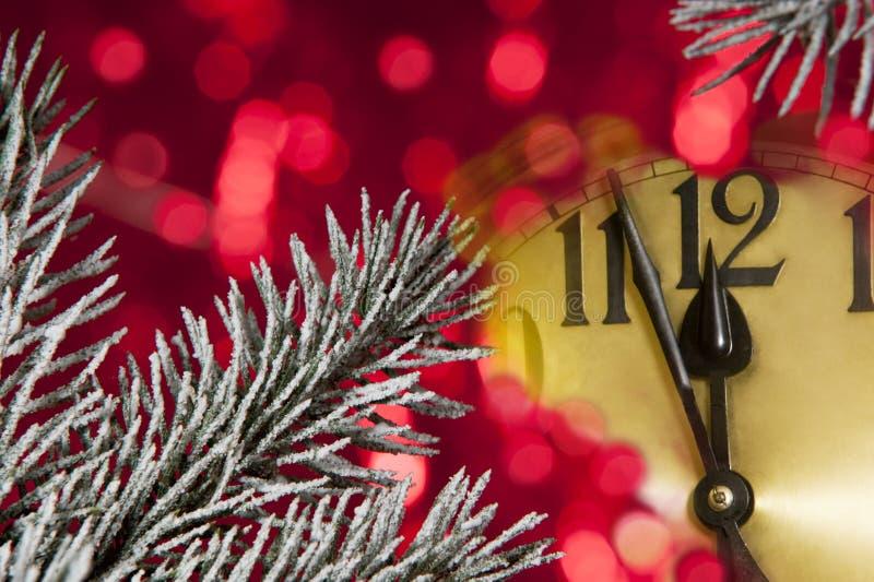 Horloge d'an neuf photo stock