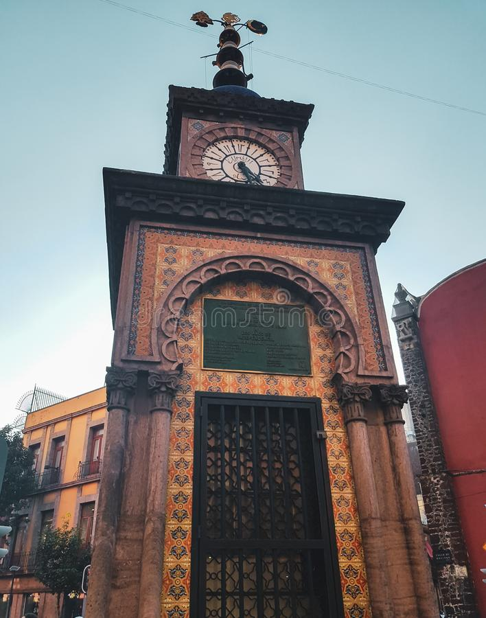 Horloge d'Ottoman à Mexico, Mexique images libres de droits