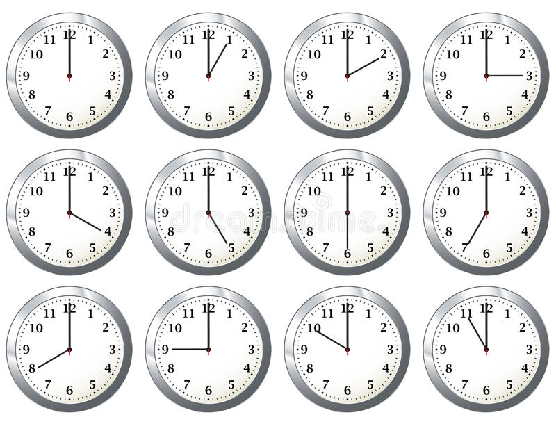 Horloge de bureau toutes les fois illustration stock