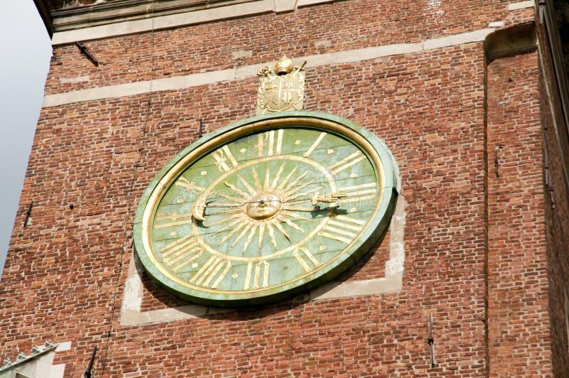 Horloge de cathédrale de Wawel - Cracovie - Pologne photo stock