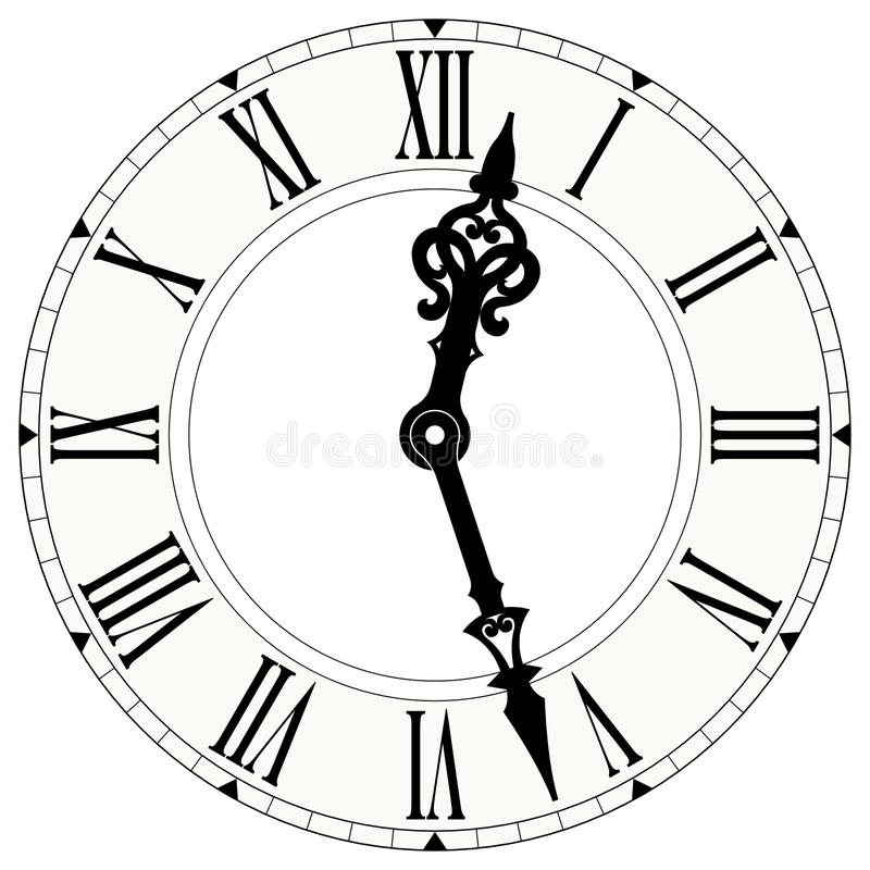 horloge de chiffre romain illustration stock illustration du cercle 29156540. Black Bedroom Furniture Sets. Home Design Ideas