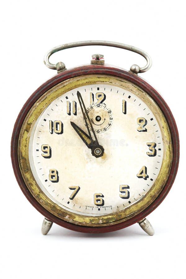 Horloge de cru sur le blanc photos libres de droits