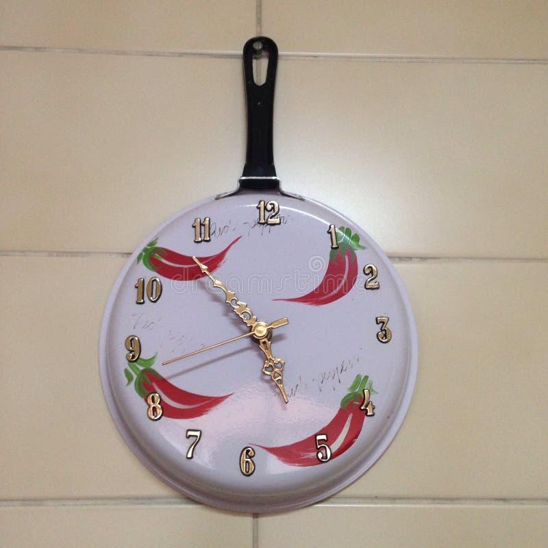 Horloge de cuisine photographie stock libre de droits