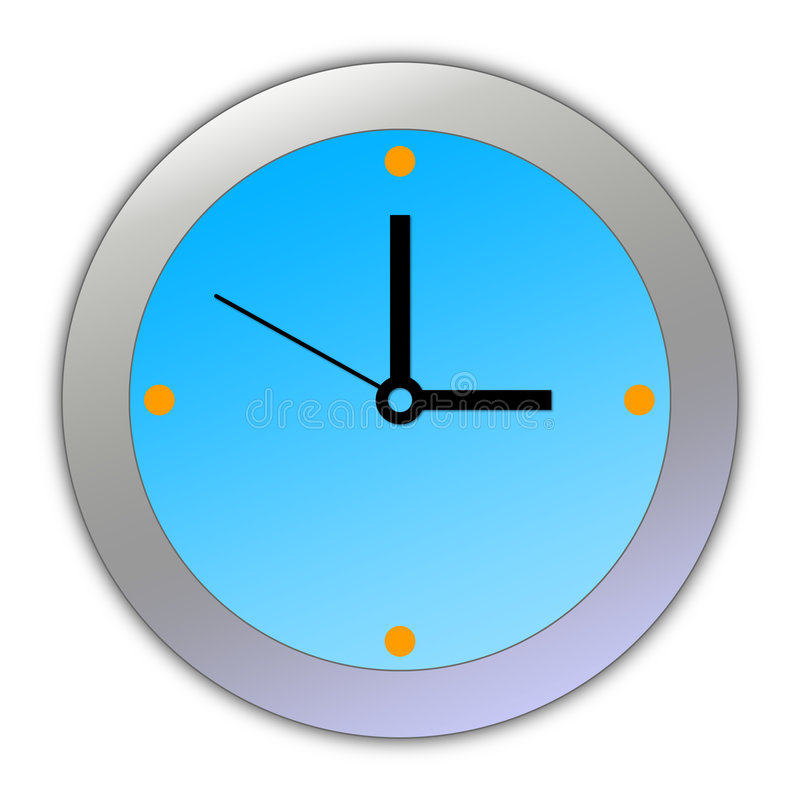 Horloge de dessin animé [02] photo stock