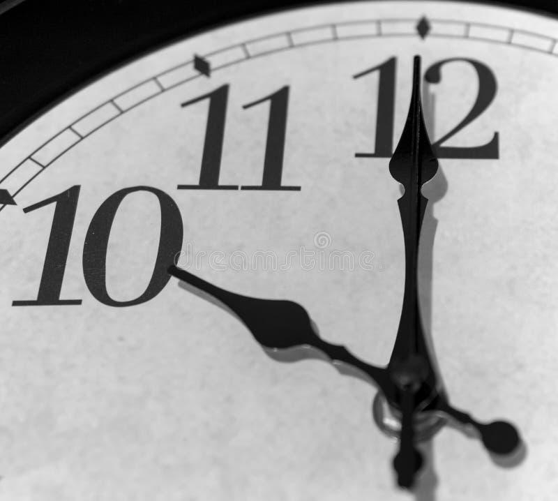 Horloge de ` de Dix o image stock