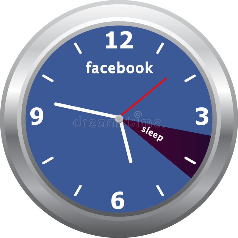 Horloge de Facebook illustration de vecteur