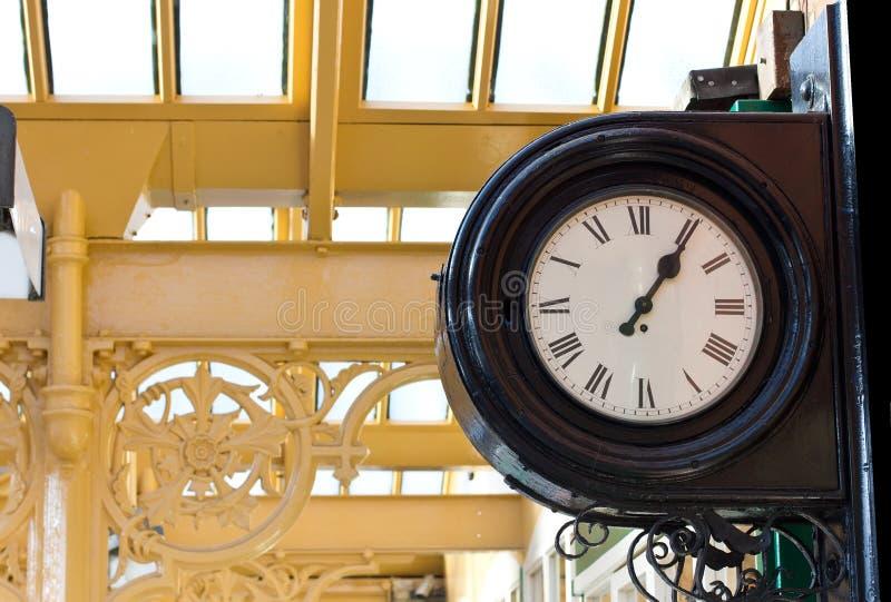 Horloge de gare photo stock