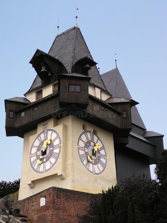 Horloge de Graz (Autriche) photographie stock libre de droits