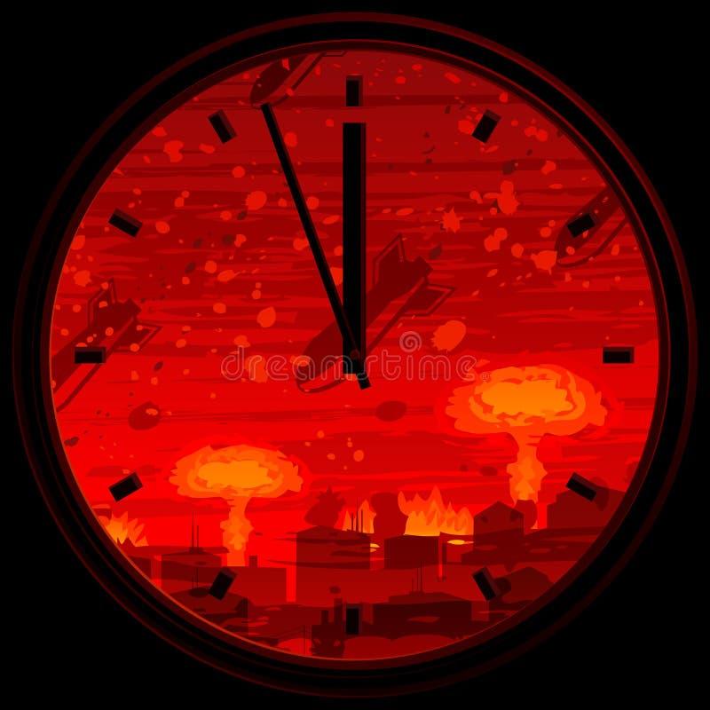 Horloge de jour du Jugement dernier illustration libre de droits