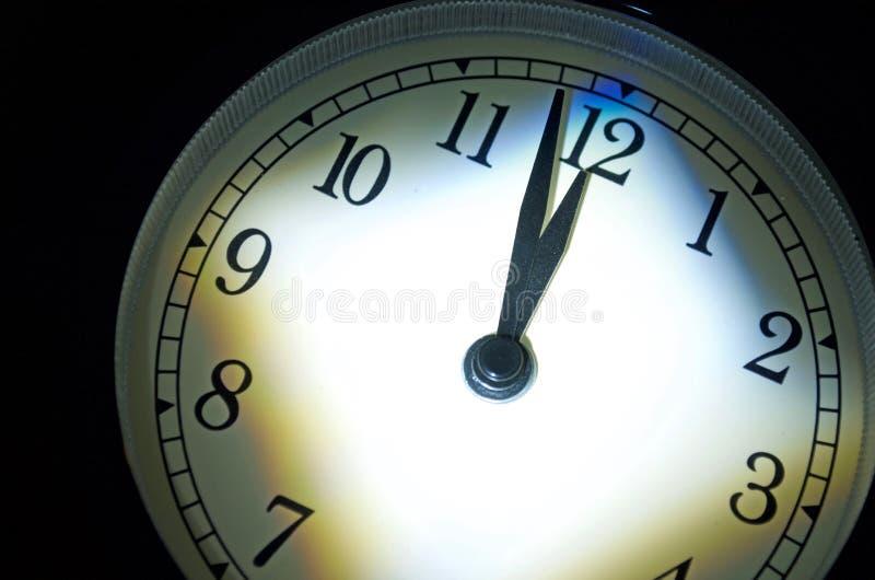 Horloge de jour du Jugement dernier, deux minutes Till Midnight image libre de droits