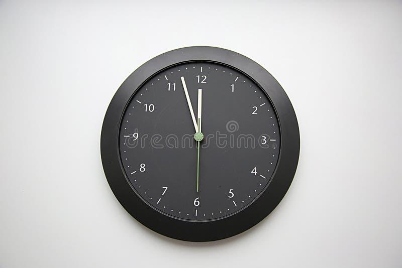 Horloge de jour du Jugement dernier La fois passée photo stock